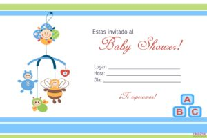 invitaciones para baby shower imprimir