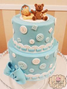 pastel para baby shower de niño