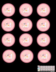 etiquetas para baby shower de niña